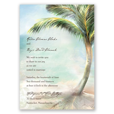 Palm Tree Beach - Invitation