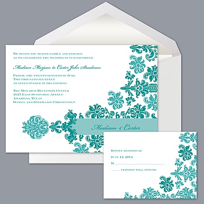 Vibrant Pattern - Jade - Invitation