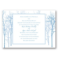 Enchanted Forest - Cornflower - Invitation