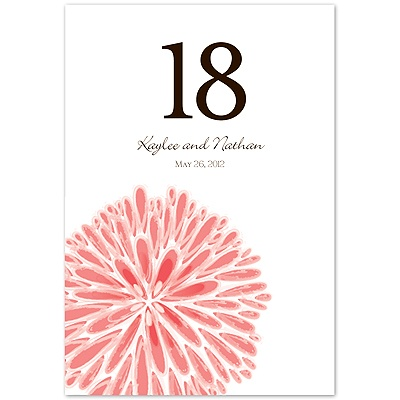 Burst of Color - Coral Reef - Table Number