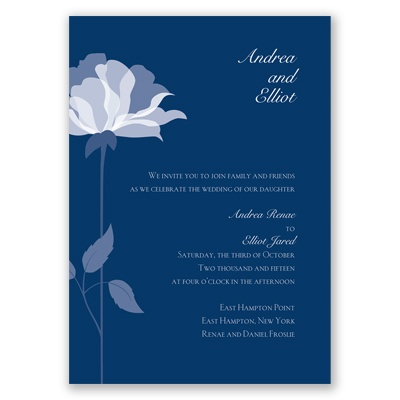 Ever Blooming - Marine - Invitation