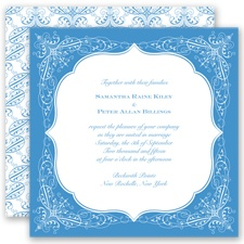 Charleston - Cornflower - Invitation