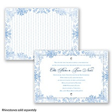 Washed Silhouette - Cornflower - Invitation