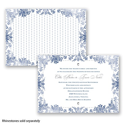 Washed Silhouette - Marine - Invitation