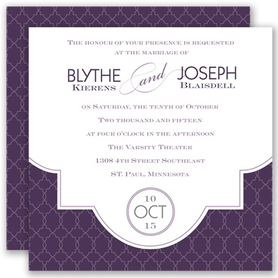 Lasting Impression - Plum - Invitation