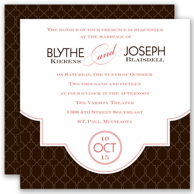 Lasting Impression - Chocolate - Invitation