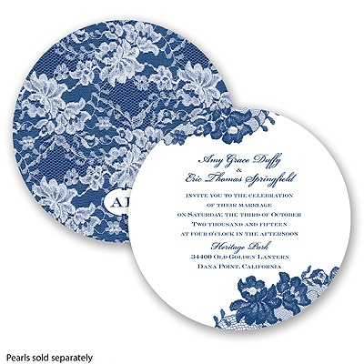 Royal Lace - Marine - Invitation