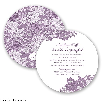 Royal Lace - Wisteria - Invitation