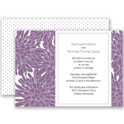 Glorious Blooms - Wisteria - Invitation
