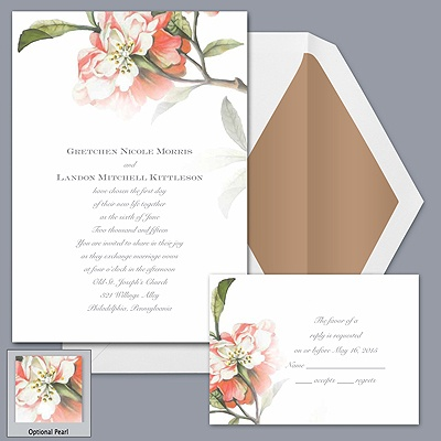 Brittany Roses One - Coral Reef - Invitation
