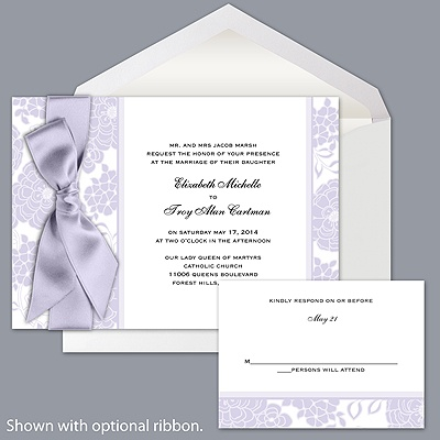 Floral Patterned - Iris - Invitation