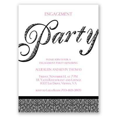 Big Party - Engagement Party Invitation