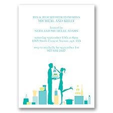 His & Hers - Mermaid - Shower Invitation