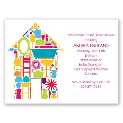 Round The House - Shower Invitation