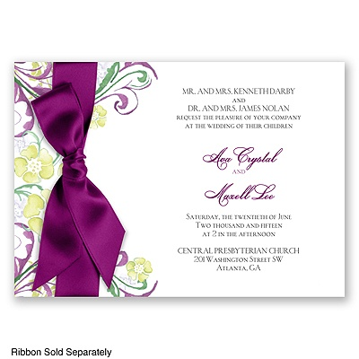 Watercolor Floral - Sangria - Invitation