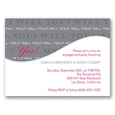 Will You - Watermelon - Engagement  Party Invitation