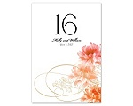 Beloved - Tangerine - Table Number