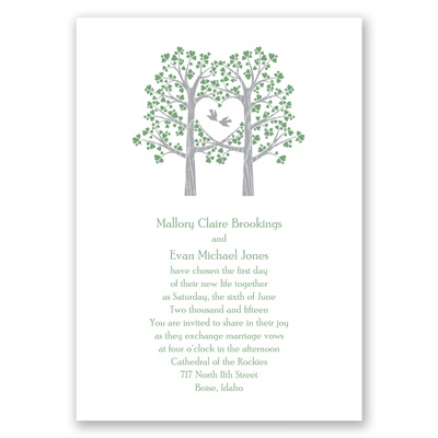 Naturally Love - Clover - Invitation