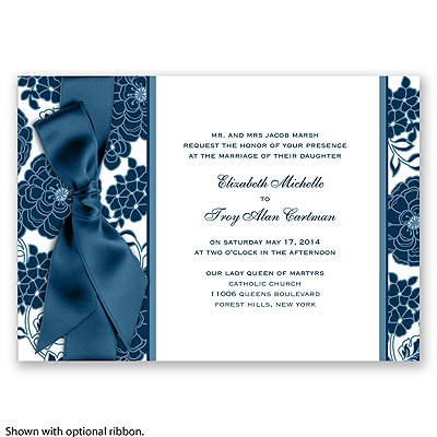 Floral Patterned - Peacock - Invitation
