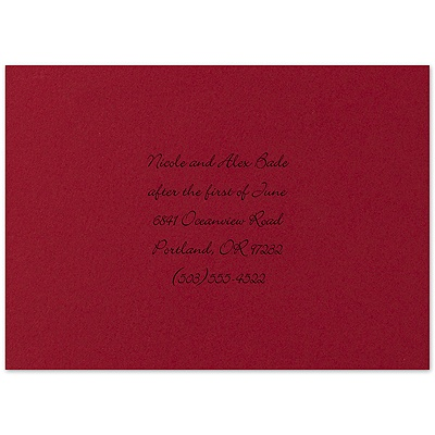 Twilight Black and Red Rose - Multi-Purpose Card