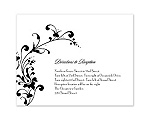 Fancy Flourish Photo - Black - Multi-Purpose Card