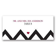 Chevron Sweethearts - Escort Card