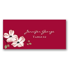 Dogwood Blossoms - Apple - Escort Card