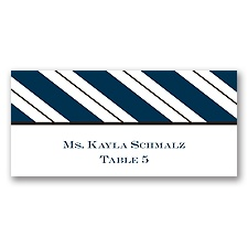 Formal Stripes - Escort Card