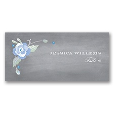 Rustic Bouquet - Bluebird - Escort Card