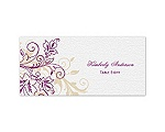 Flourish with Golden Shadow - Sangria - Escort Card