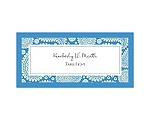 Perfect Paisley Duet - Cornflower- Escort Card