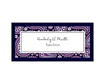 Perfect Paisley Duet - Lapis- Escort Card