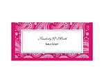 Perfect Paisley - Watermelon - Escort Card