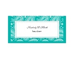 Perfect Paisley - Mermaid - Escort Card