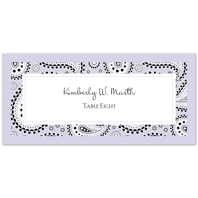 Perfect Paisley Duet - Iris - Escort Card
