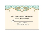 Detailed Elegance - Response Card and Envelope