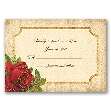 Antique Roses - Apple - Response Card and Envelope