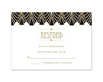 Dynamic Lines - Golden - Response Card and Envelope