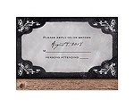 Rustic Chalkboard - Response Card and Envelope