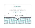 Happily Houndstooth - Response Card and Envelope