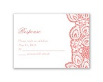 Lacy Delight - Response Card and Envelope