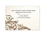 Vintage Ivory - Respond Card and Envelope