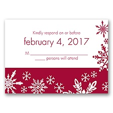 Snowflake Melody - Response Card and Envelope