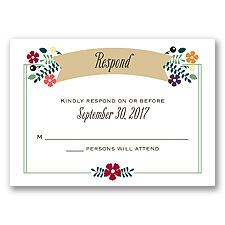 Splendid Season - Response Card and Envelope