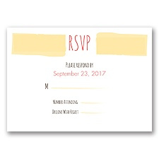 Flirty Fall Fling - Response Card and Envelope