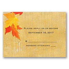 Mystic Maple Leaves - Response Card and Envelope