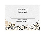 Flourish with Golden Shadow - Black - Response Card and Envelope