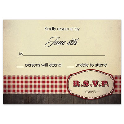 Country Fun - Red - Response Card and Envelope