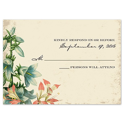 Nature's Gift - Response Card and Envelope