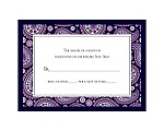 Perfect Paisley Duet - Lapis - Response Card and Envelope